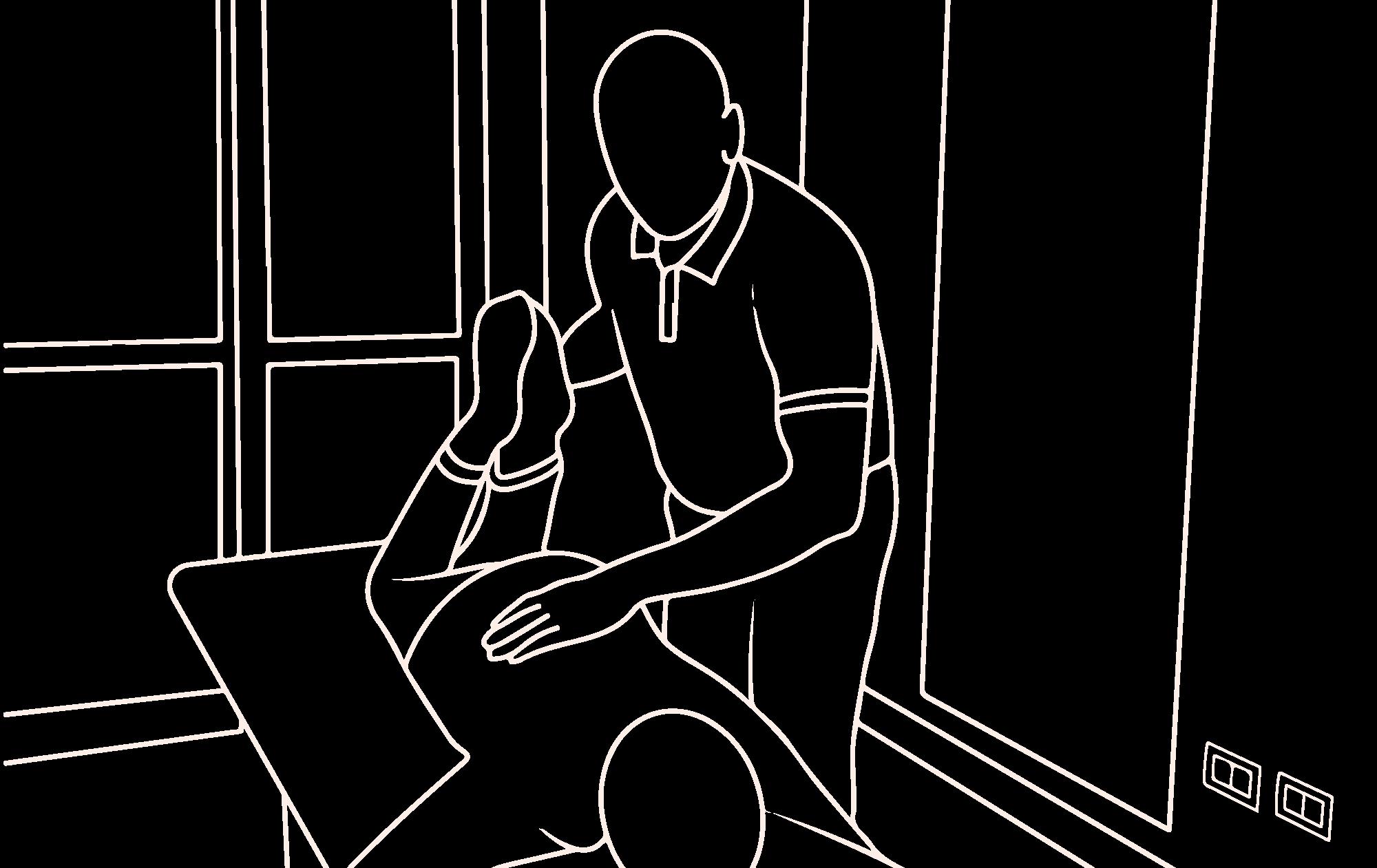 Patrick Murugan seduta chiropratica